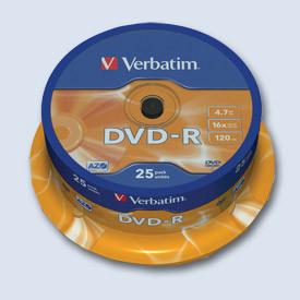 DVD-R Verbatim 4. 7GB K 25ks