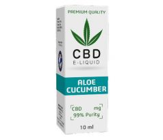 CBD Vape Liquid 10 ml  -  Aloe Cucumber 600mg (6%)
