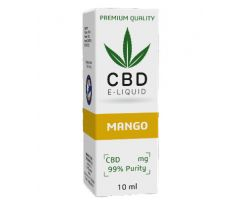CBD Vape Liquid 10 ml  -  Mango 600mg (6%)