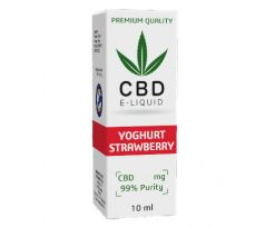 CBD Vape Liquid 10 ml  - Strawberry Yoghurt 600mg (6%)